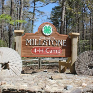 Millstone 4-H Camp welcome sign