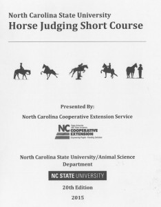 Horse Judging Manual Cover