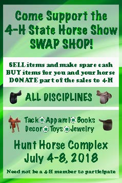 Consign Your Used Tack and Clothing at the 2018 State 4-H