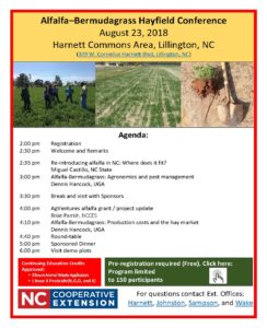 Cover photo for Alfalfa–Bermudagrass Hayfield Conference