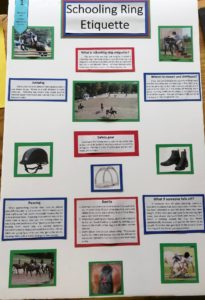 poster about schooling ring etiquette