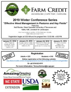 """Cover photo for 2019 Winter Extension Conference - """"Effective Weed Management in Pastures and Hay Fields"""""""