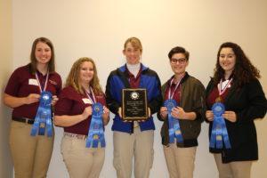Senior Hippology Team Champions Alamance County