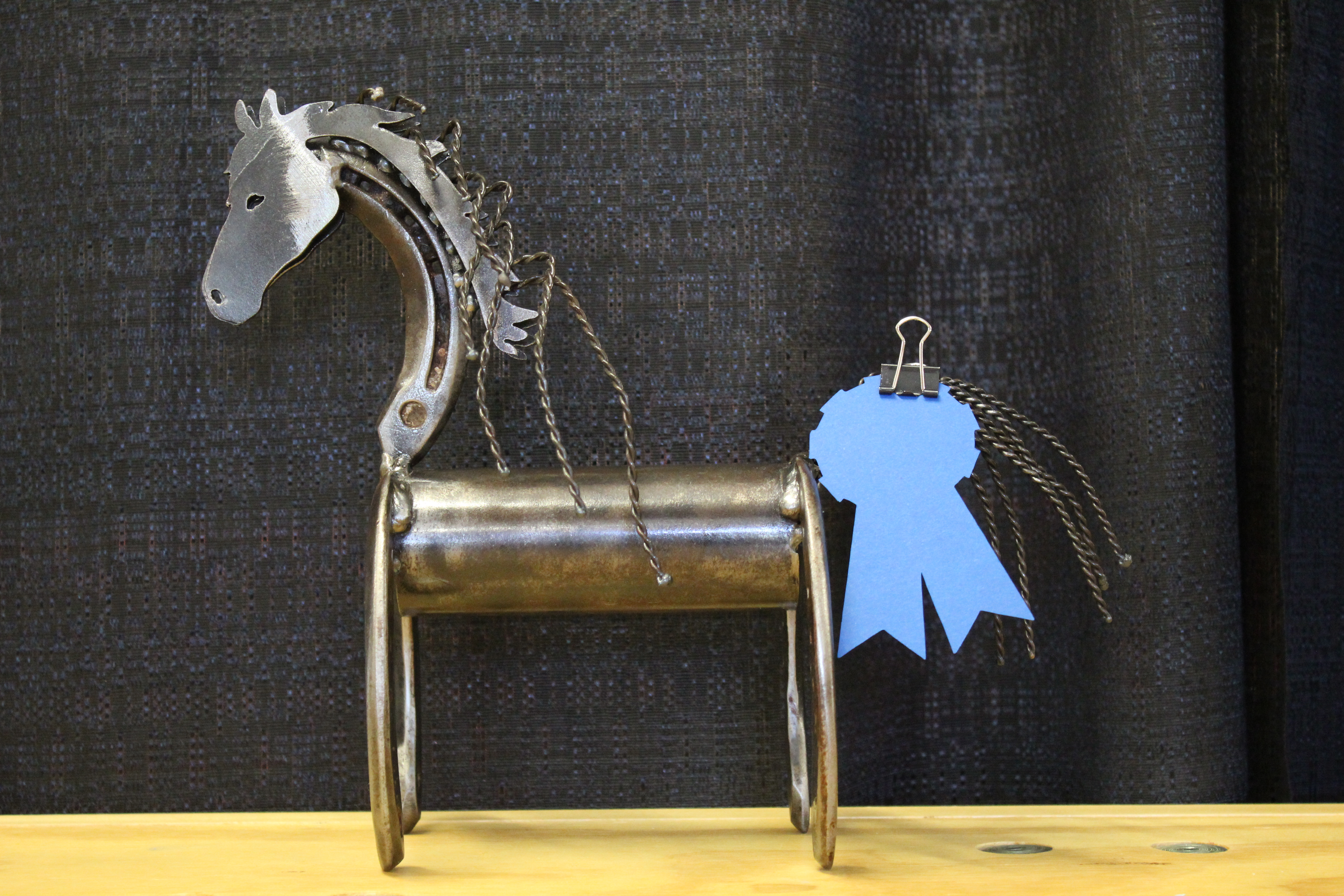 Horse made out of metal
